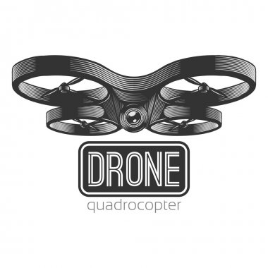 Vector illustration of quadrocopter.