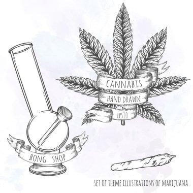 Marijuana stuff collection.