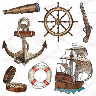 Items on the marine theme.