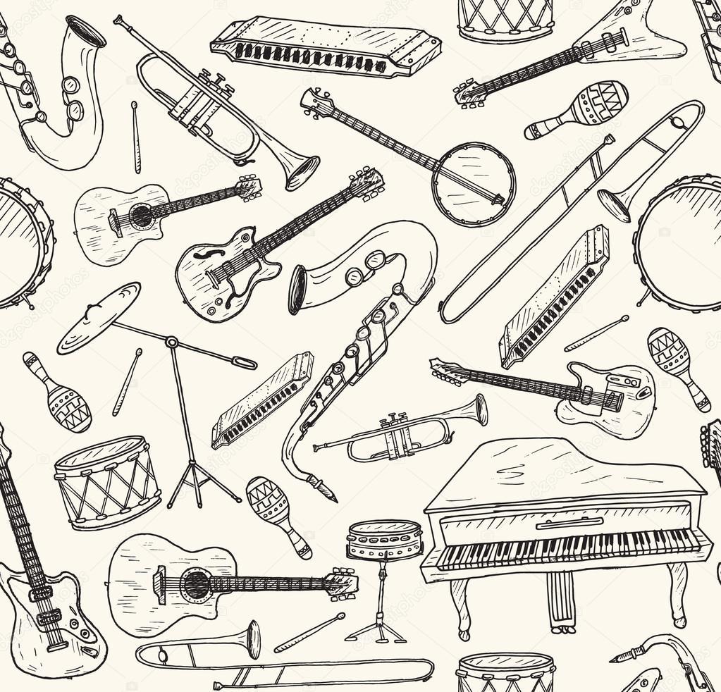 Прикольные рисунки музыкальных инструментов