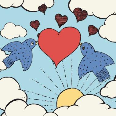 Birds of love.