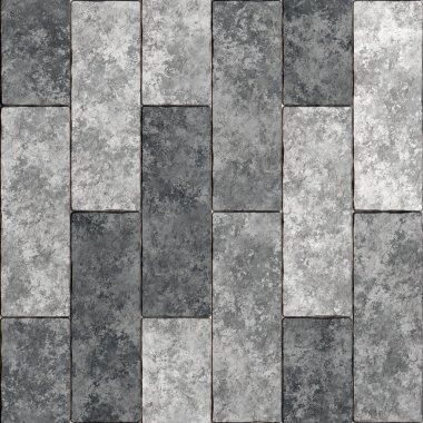 Seamless stone wall texture. Texture of paving stones. Gray tile