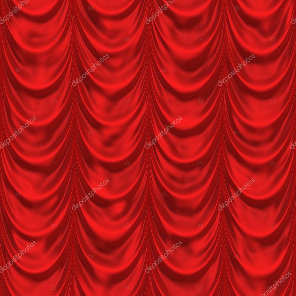 Rood gordijn. naadloze achtergrond. Patroon theater gordijnen ...