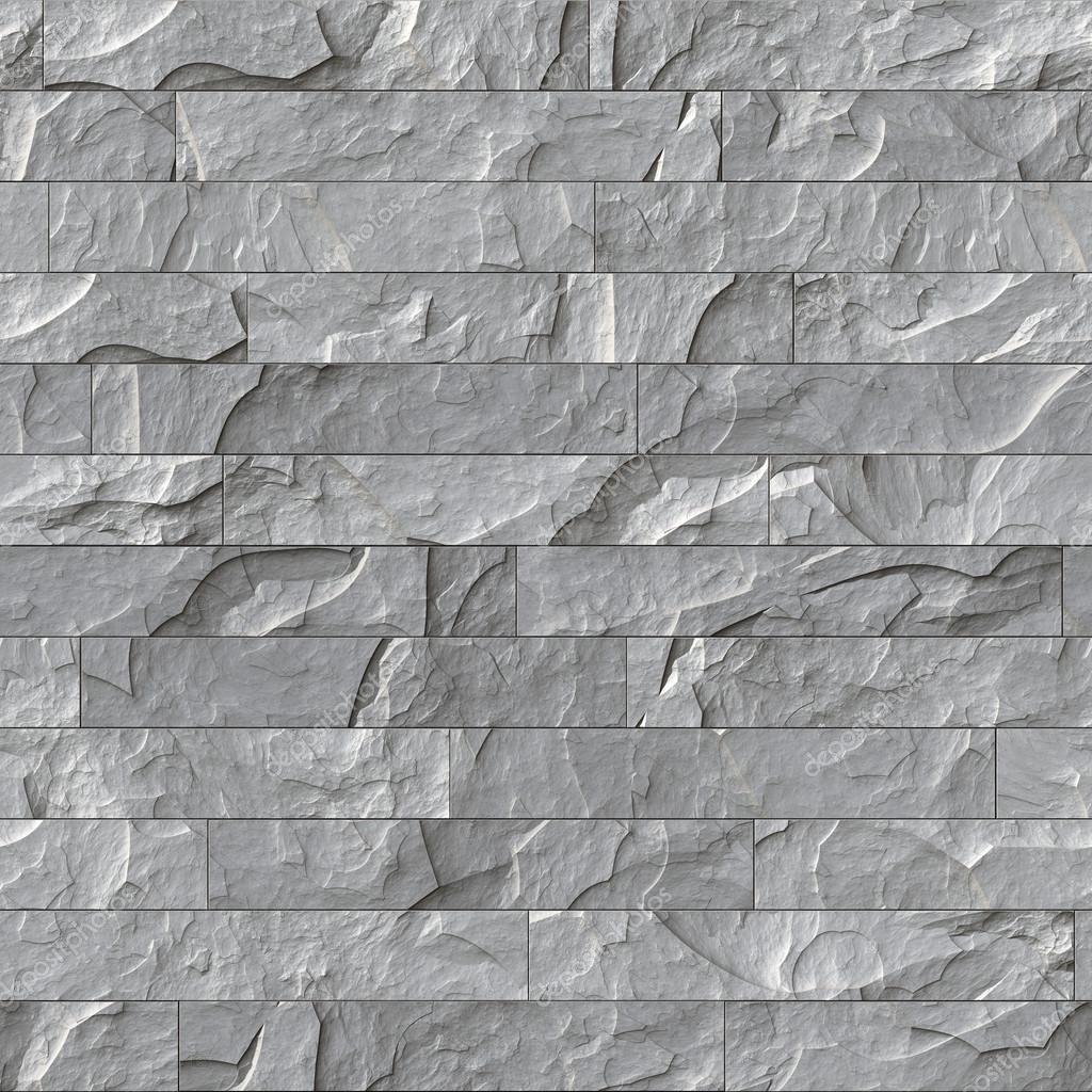 Seamless Stone Wall Texture Tile Background Stock Photo