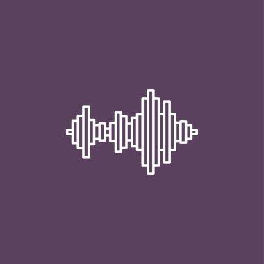 Sound wave music icon