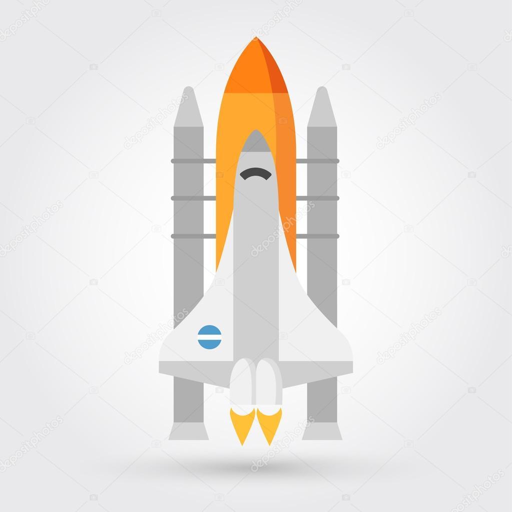space shuttle vector icon stock vector marnikus 98539844 rh depositphotos com space shuttle vector art space shuttle vector eps