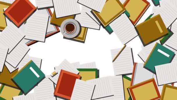 Kniha a šablona Animované ilustrace Pozadí pro vzdělávání a vědu Téma, Animace na pozadí zelené obrazovky