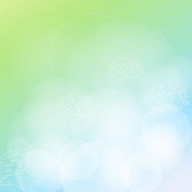 Vector Green Abstract Background
