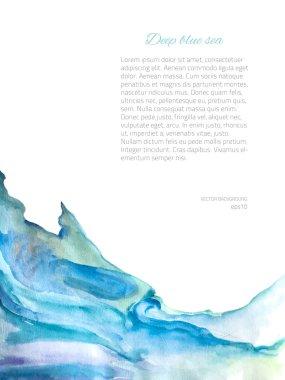 Vector Background  Frame Blue