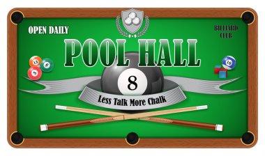 Billiard poster. Pool hall - Eight ball