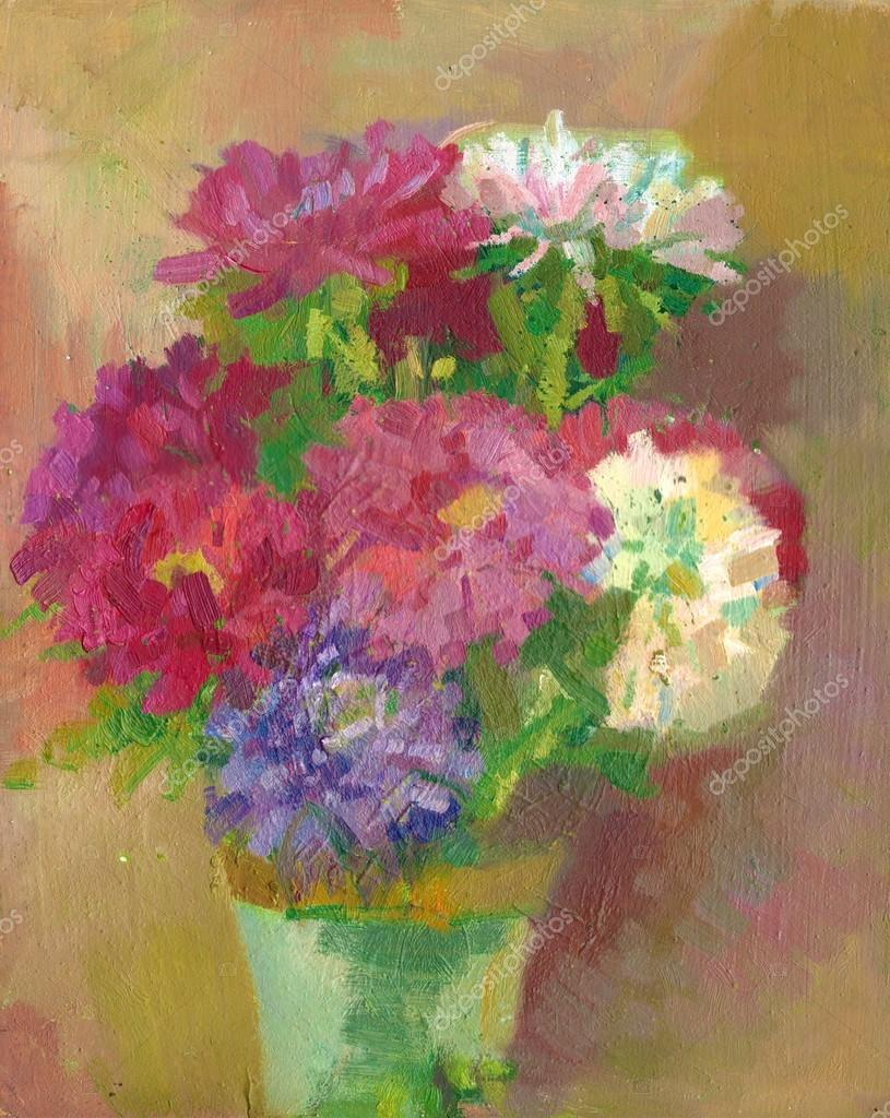 Oil painting - flowers