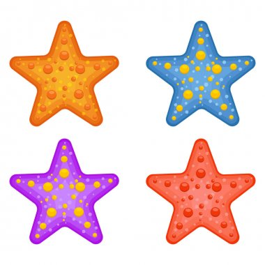 Starfish pack vector design illustration isolated on white background icon