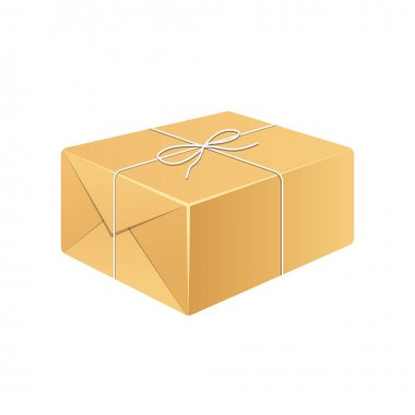 Parcel box vector design illustration isolated on white background icon