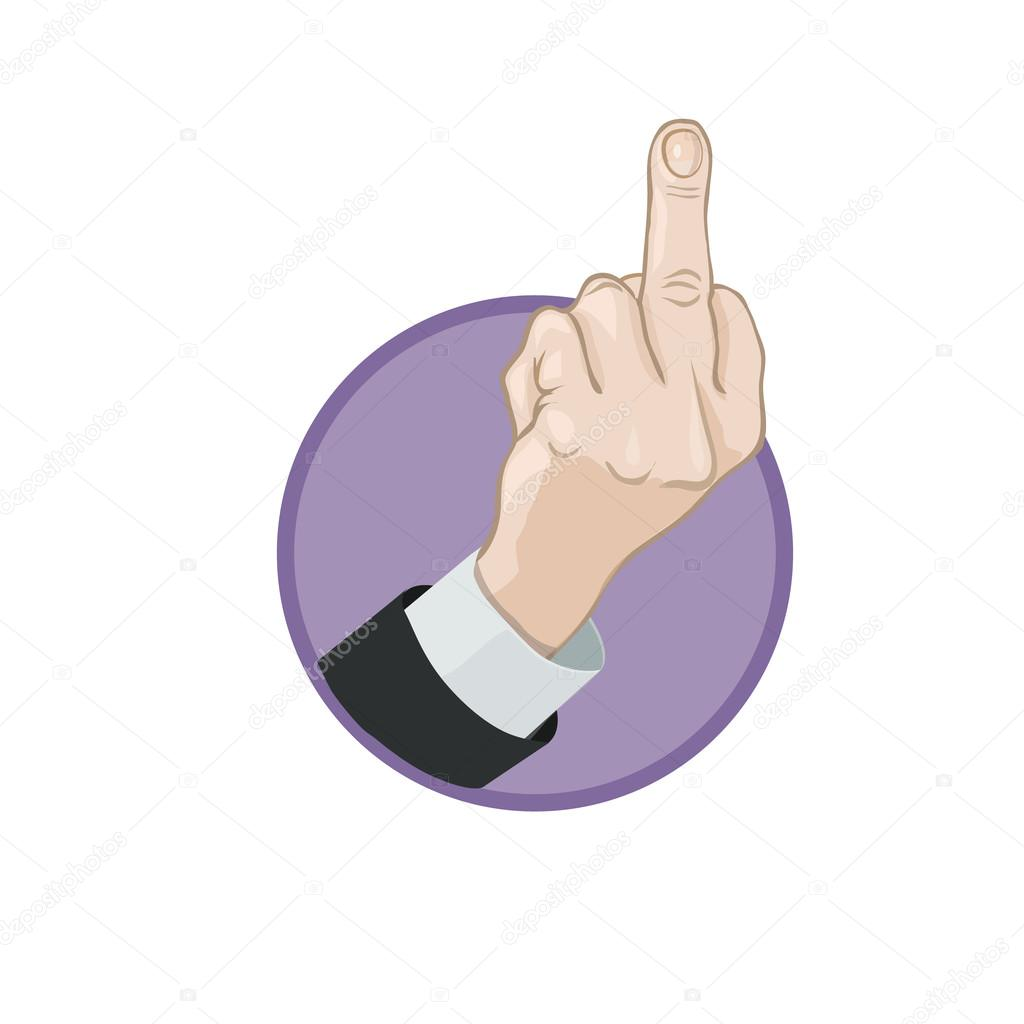 Icon finger gesture - Fuck you