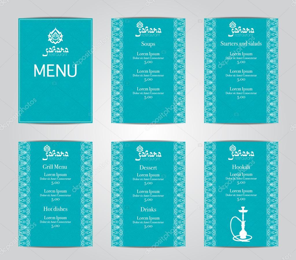 Ilustración de vector de un diseño de plantilla de tarjeta de menú ...