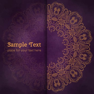 Cards or invitations with flowers mandala pattern.