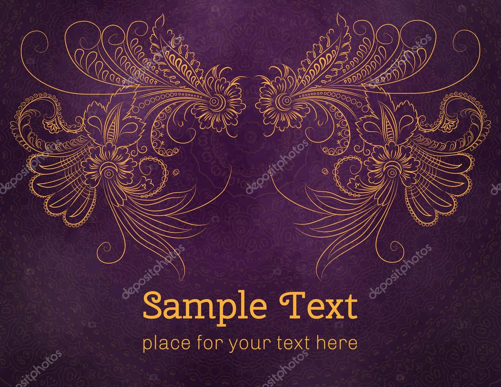 Cards or invitations with flowers pattern.