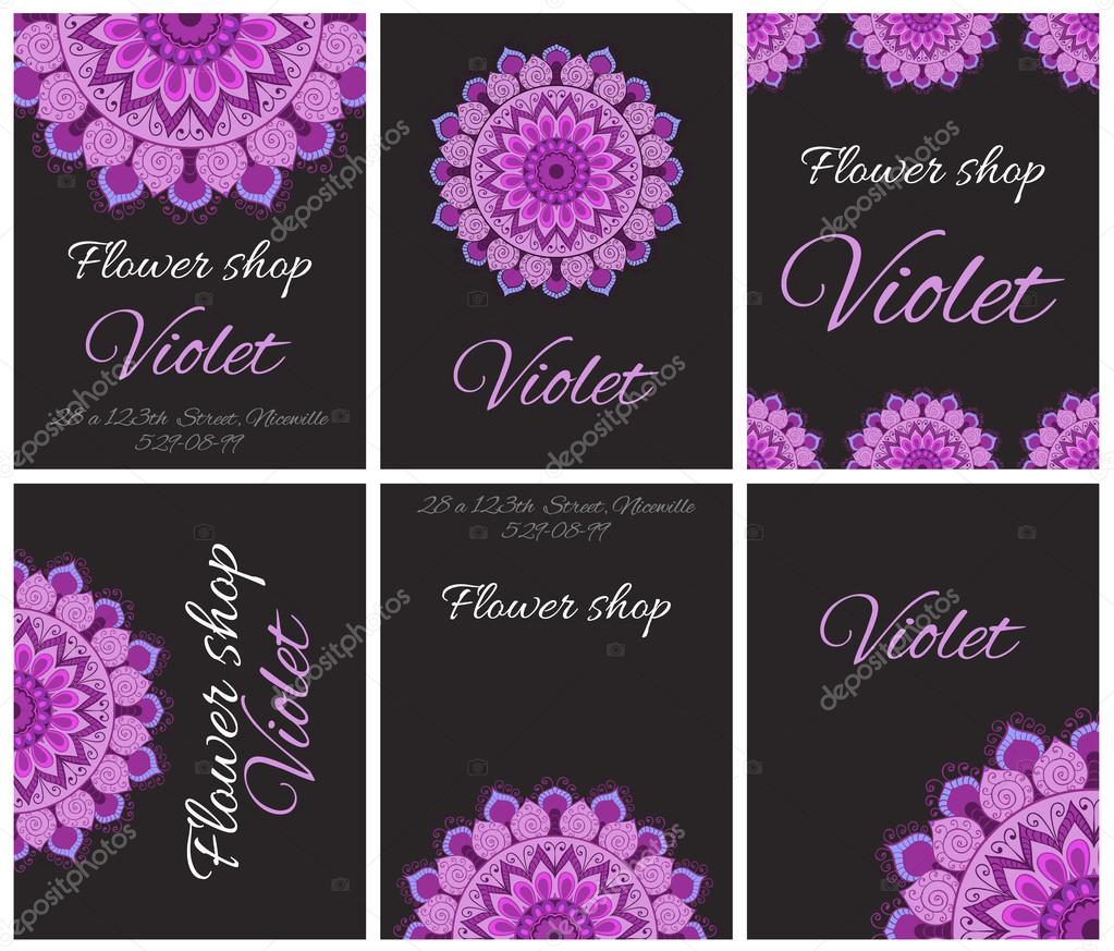 cards flyers or invitations for flower shop stock vector