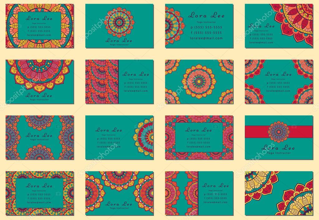 Flat Mandala Business card collection