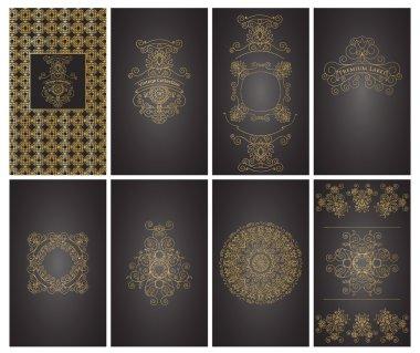 Calligraphic monogram emblem template. Luxury elegant frame ornament line logo design vector illustration. Good for Royal sign, Restaurant, Boutique, Cafe, Hotel, Heraldic, Jewelry, Fashion