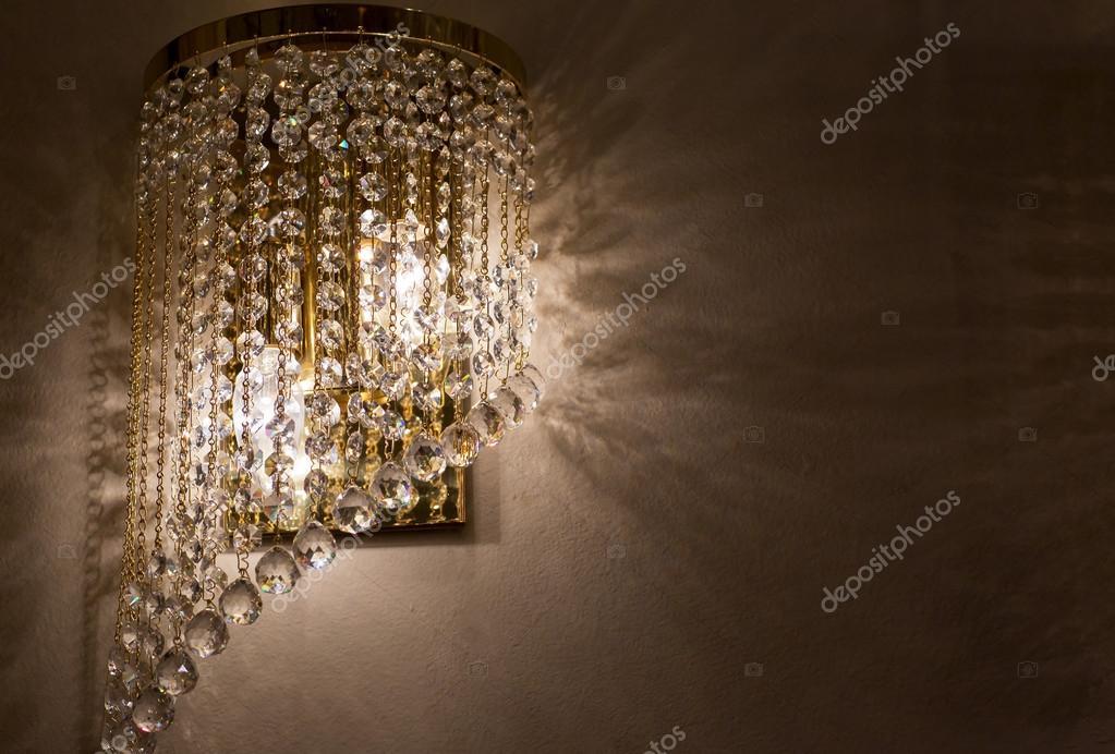 Applique in ottone con cristallo u2014 foto stock © nadezhdaabramian