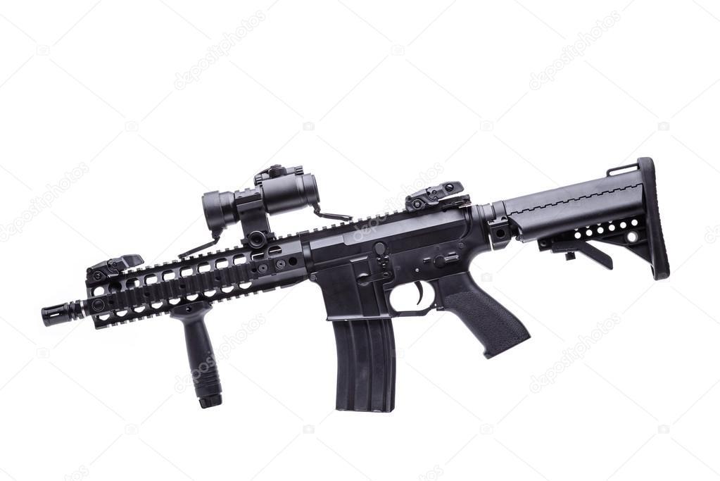 分離された m16 ライフル ストック写真 nesterenko max 110177812