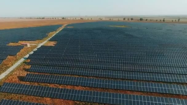 aerial view Solar panels Photovoltaic system birds-eye view