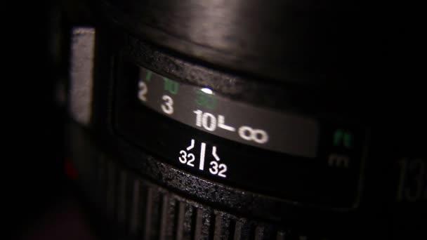 Objektiv fotoaparátu. Detail