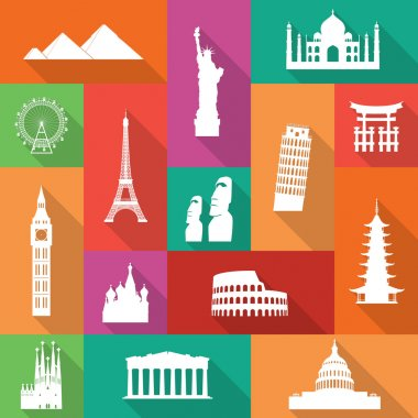 Famous Monuments Icons