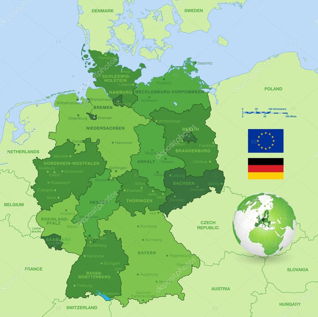 Vector Map Of Germany Stock Vector C Pingebat 75656969