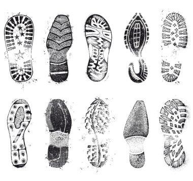 Grunge shoe track set
