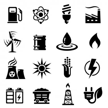 Energy Concepts Vector Icon Set