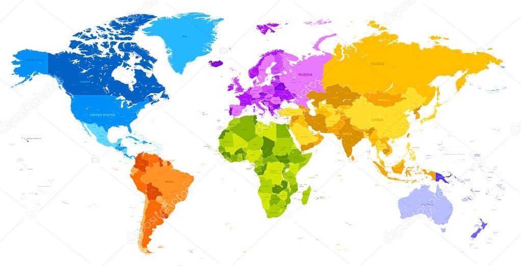 Vibrant colors world map vector de stock pingebat 76790733 vibrant colors world map vector de stock gumiabroncs Gallery
