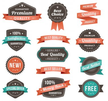 Vector illustration of promotional design elements
