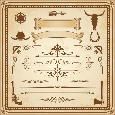 Vector Wild West Ornaments