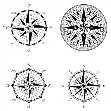 High Detail Compass Rose Set