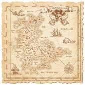 Hi detail Vector Treasure Map