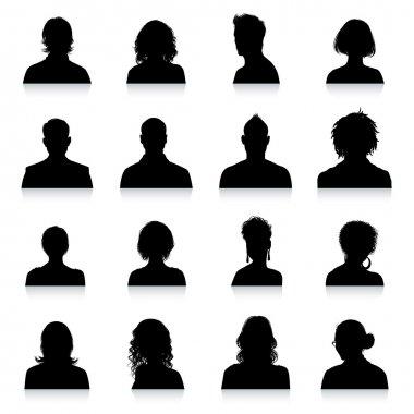 Avatars silhouettes