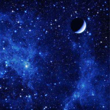 Star Sky with Quarter Moon