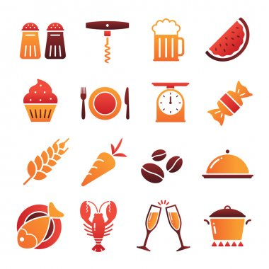 Vector Color Food Icons Collection 2