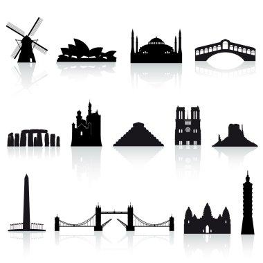 Vector World Monuments set 2