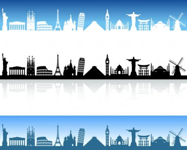 Vector World Monuments skyline