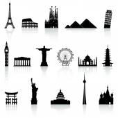 Vector Famous Monument icons Set