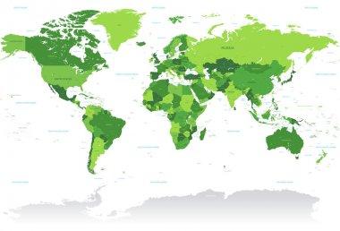 Vctor Green World Map