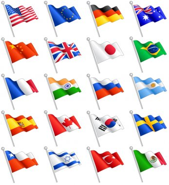 Vector International Flags Set