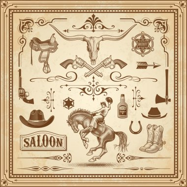 Wild West Decorations Set 3