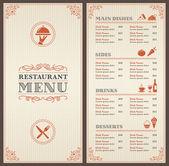 Fotografie Classic Restaurant Menu Template