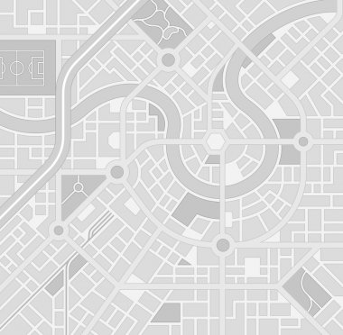 Vector Greyscale City Map pattern