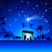 Fotografie Vektorové vánoční betlém