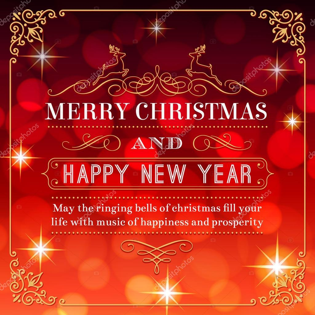 Christmas and new year greetings stock vector pingebat 82240764 a nice christmas greeting card with a red background full of flares and lights vector by pingebat kristyandbryce Images